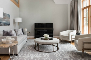 transitional design living room